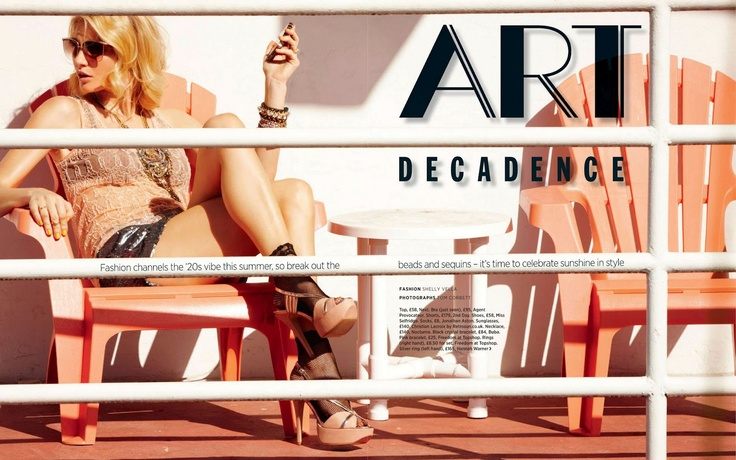 Art Decadence   Rebecca Iannacone   Tom Corbett #photography   Cosmopolitan UK July 2012