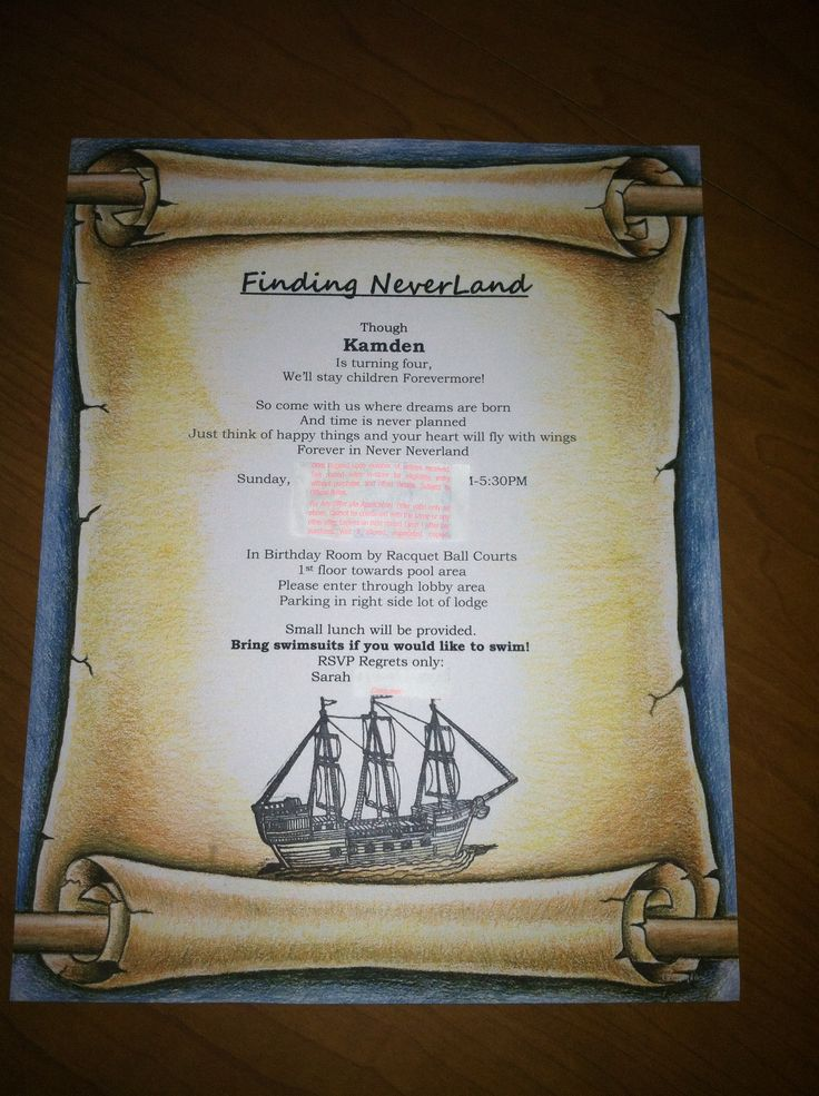 17 Best images about Party Theme Neverland Tinkerbell peter pan – Neverland Party Invitations