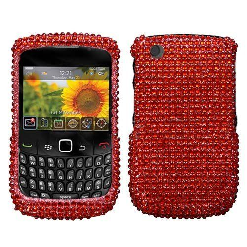 Asmyna BB8520HPCDM018NP Dazzling Luxurious Bling Case for BlackBerry Curve 8520853093009330  1 Pack  Retail Packaging  Red -- Continue to the product at the image link.