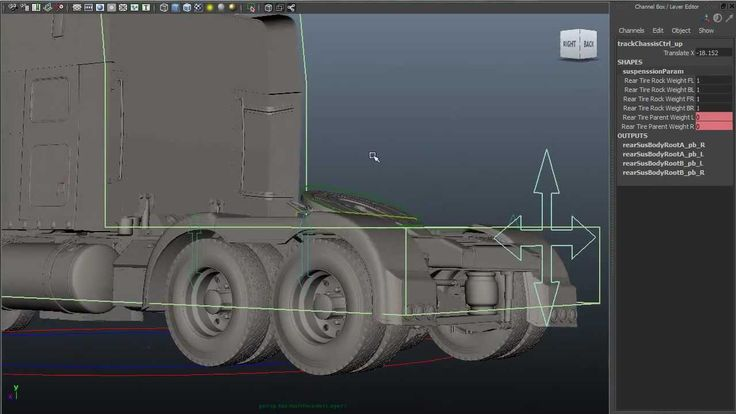 Rigging and modeling demo reel - a Track (transformer truck)