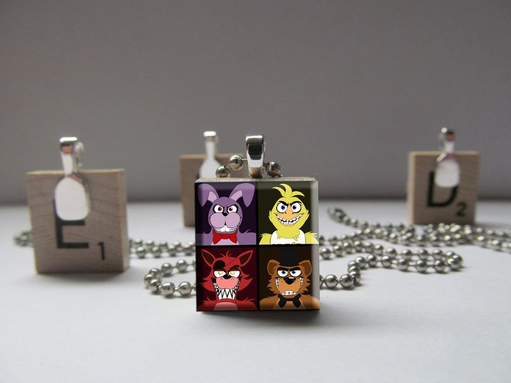 Tile Wearable Art Pendant Necklace Charm FNAF Five Nights at Freddy's #6