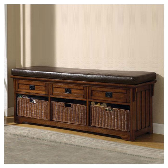 Wildon Home ® Upland Wooden Entryway Storage Bench & Reviews | Wayfair