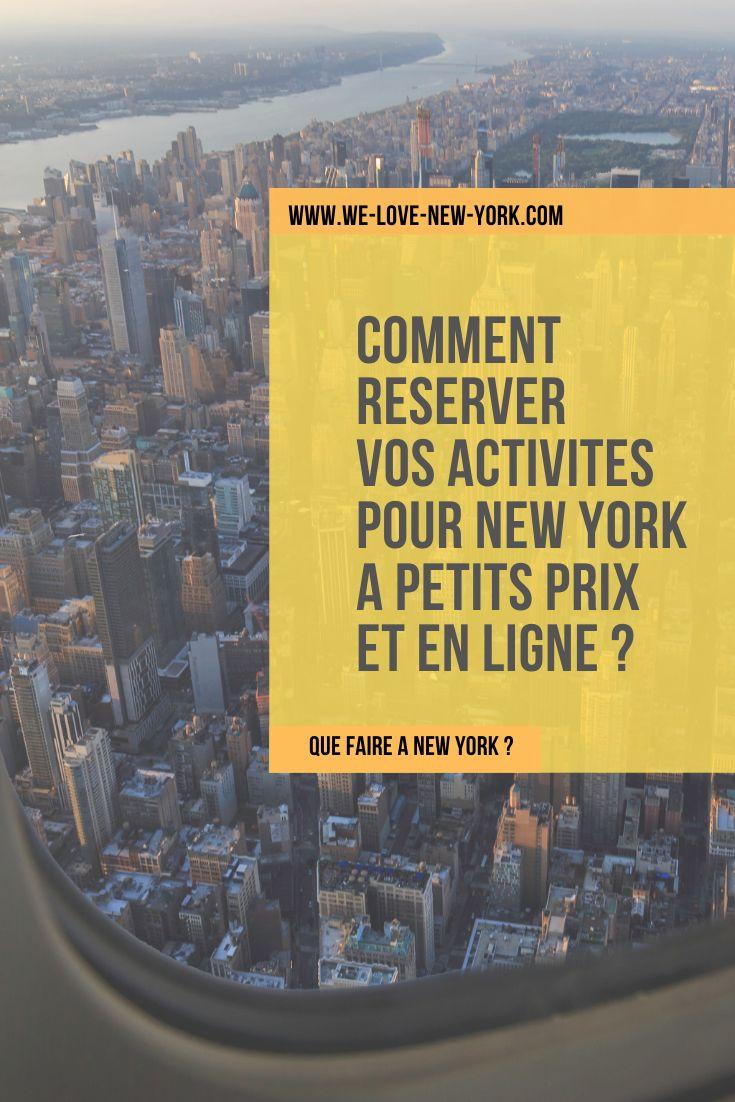 Comment réserver vos activités pour New York à petits prix et en ligne ?