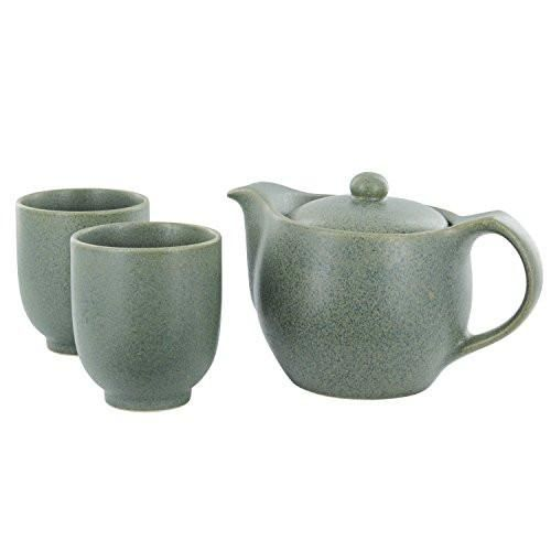 Take delight in tea time with this modern but timeless Asian tea set that adds style to any table. Comes with a mesh infuser. Details MaterialCeramic Capacity15