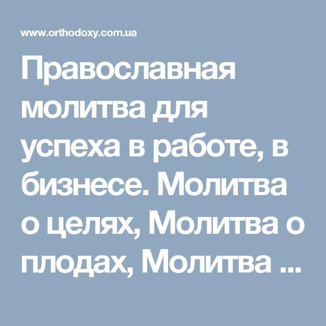 Православная молитва для успеха в работе, в бизнесе. Молитва о целях, Молитва о плодах, Молитва о материальном благополучии. Молитва о работе. Молитва об успехе в делах