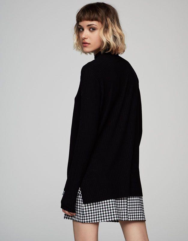 Camiseta canalé cuello perkins - Últimas novedades - Ropa - Mujer - PULL&BEAR México