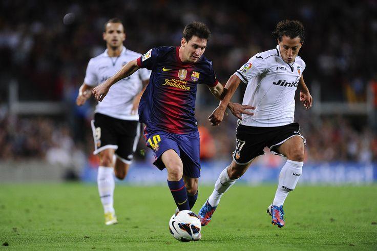 Lionel Messi in FC Barcelona v Valencia CF - La Liga