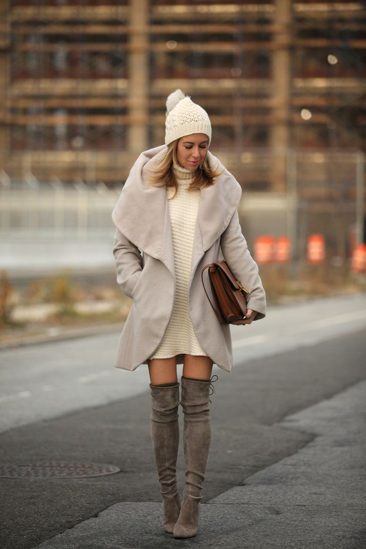 Sweater dress and knee high boots: http://rstyle.me/~3cPs4: