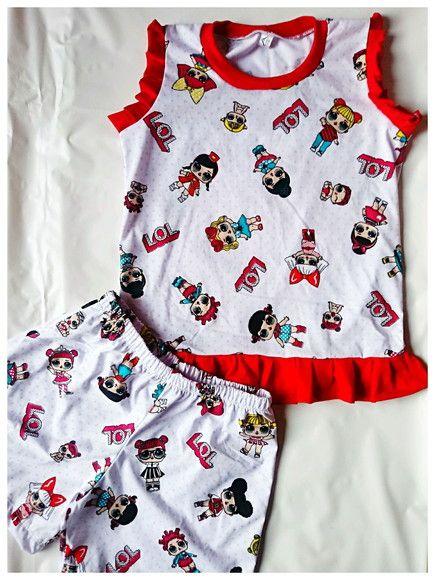 48bba937d Compre Pijama Curto LOL Personagens (1 ao 6) no Elo7 por R  35