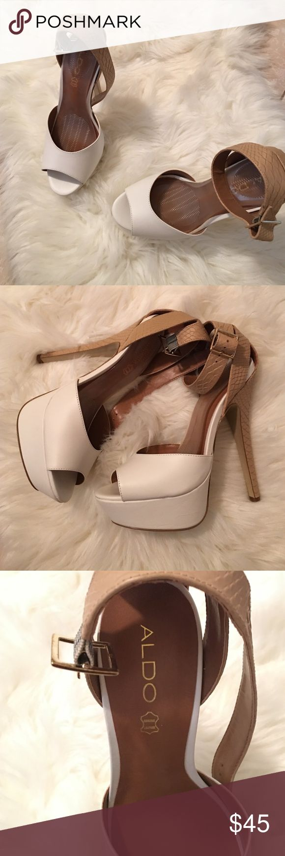 White Aldo heels 5 1/2 in ALDO heels Brand New ALDO Shoes Heels