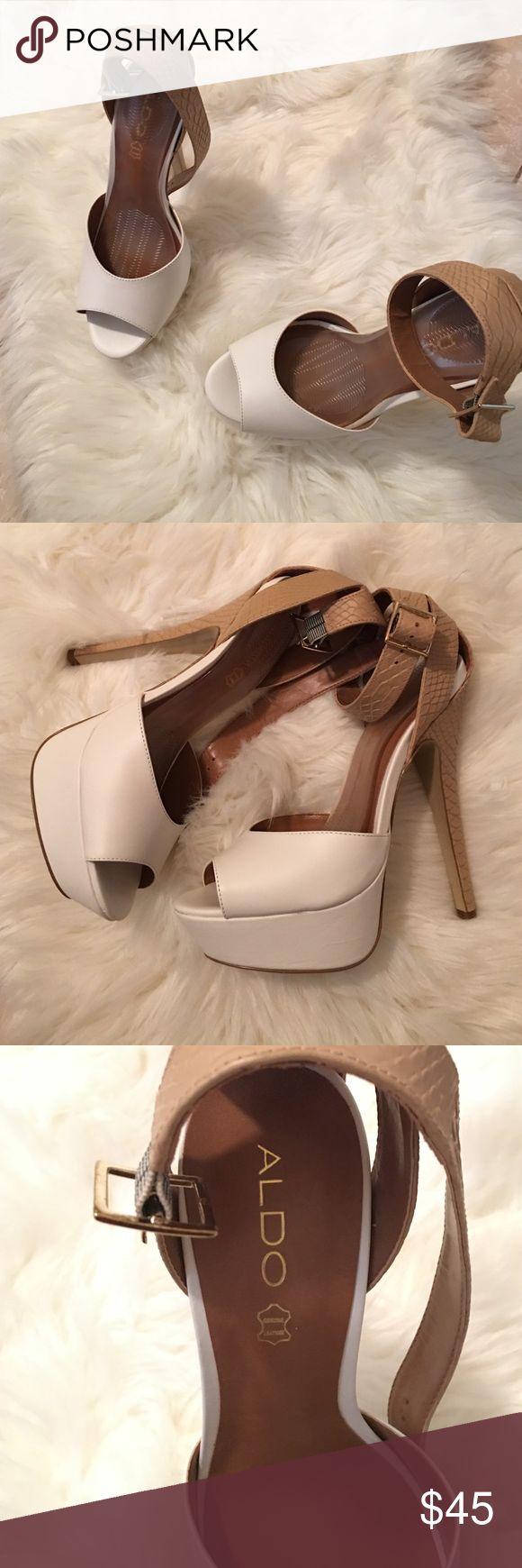 White Aldo heels 5 1/2 in ALDO heels Brand New. Size 8 1/2 ALDO Shoes Heels