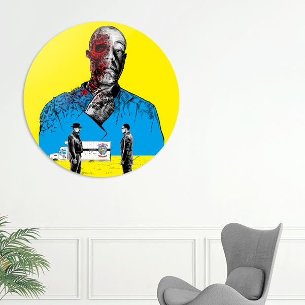 Discover «Breaking bad Gus Fring», Exclusive Edition Disk Print by Paola Morpheus - From 80€ - Curioos