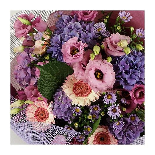 Soft Pink + Purple Bouquet - Auckland Delivery - Bestow Gifts + Flowers