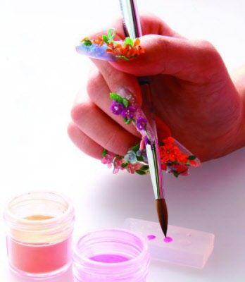 images of 3D nail art   3D Acrylic Nail Art Mold Floral Decoration   eBay