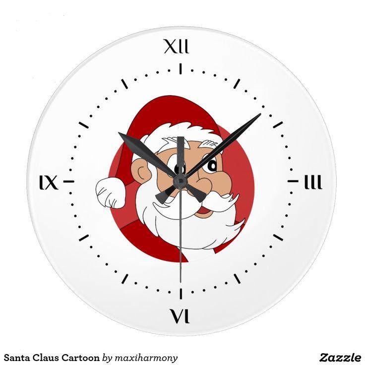 Santa Claus Cartoon Clock