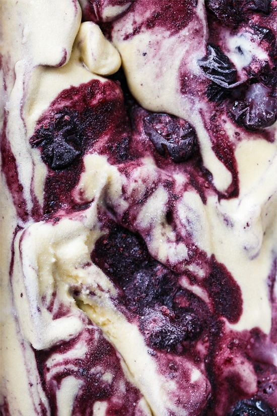 Muscovado Roasted Blueberry Ice Cream by loveandoliveoil: Roasting blueberries makes all the difference in this super flavorful ice cream. #Ice_Cream #Roasted_Blueberry