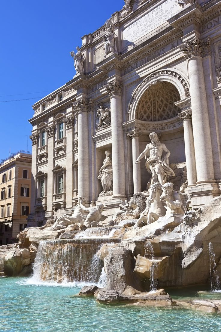 Making a wish at the #Trevi Fountain in #Rome is a must ...