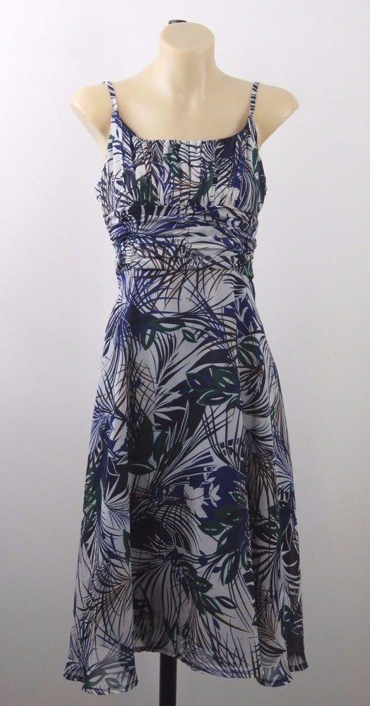 Size S 10 Portmans Ladies Floral Dress Retro Chic Vintage Cocktail Resort Design #Portmans #Sundress #PartyCocktail