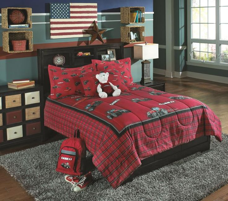 Case IH - Full/Queen Comforter Set  available on BirchwoodTrading.net