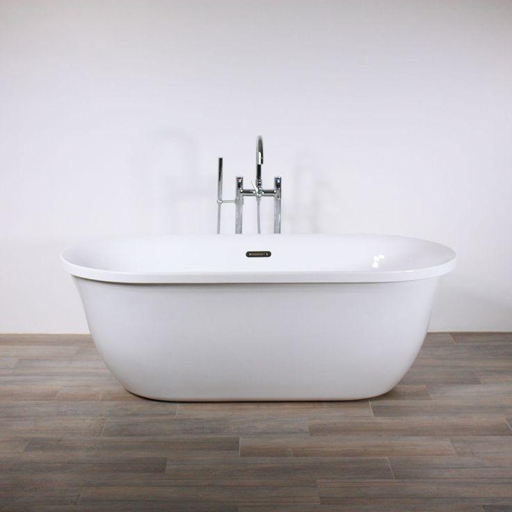 "Freestanding Bathtub Genoa 67"" Oval Acrylic Tub with Chrome Drain - NO FAUCET  | Home & Garden, Home Improvement, Plumbing & Fixtures | eBay!"