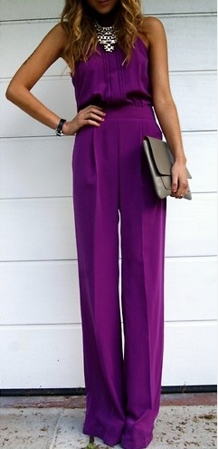 This type of jumpsuit for my cool androgynous bridesperson if she doesn't want to wear a dress