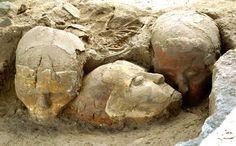 AUTORE: Ignoto NOME:Teschi di stucco; DATAZIONE: circa 9.500-9.000 anni fa. MATERIALE E TECNICA: Teschi modellati con stucco