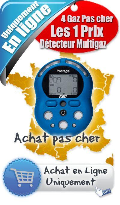 Détecteur de gaz Scott - « Le détecteur Multigaz Protégé » - Découvrez et achetez en ligne votre détecteur Multigaz Protégé au prix pas cher...