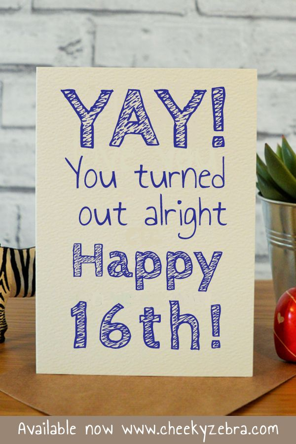 Funny 16th Birthday Card For Boys This Is Perfect Your Bother