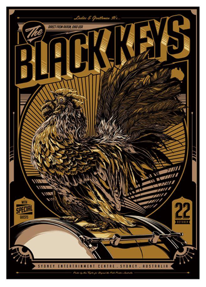 Ken Taylor's Black Keys Australian tour poster