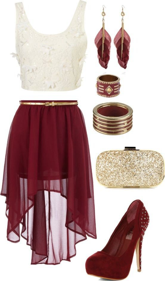 Cute Red&White outfit for a special event