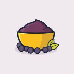 A bowl of acai illustration vector - Comprar este vetor do ... (240 x 240 Pixel)