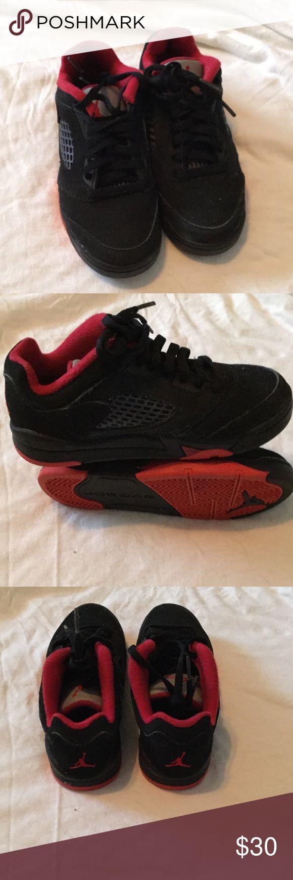 Kids Jordan's Gently worn red and black kids sneakers Jordan Shoes Sneakers