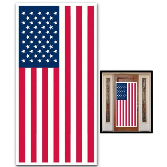 Grote deurposter vlag USA  Grote deurposter vlag USA. Grote poster van de Amerikaanse vlag. De poster is ongeveer 76 cm x 150 cm groot.  EUR 7.99  Meer informatie