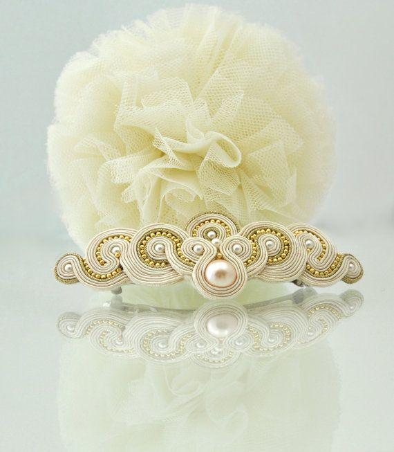 Pearl hair clips wedding hair buckle hair by ModernCrochetClub