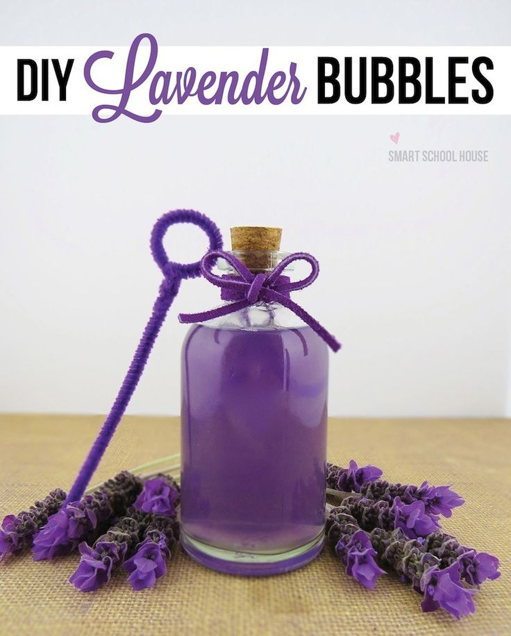 Did you know that you can make your very own lavender scented bubbles? The ingredients are simple and your kids will love them!
