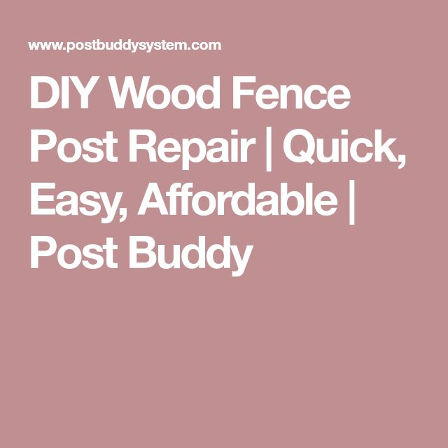 DIY Wood Fence Post Repair | Quick, Easy, Affordable | Post Buddy