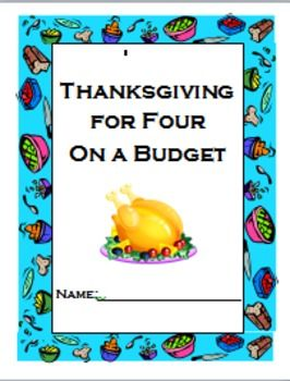 Have your students use this sheet and your local grocery ads to plan a Thanksgiving meal on a budget. Great math application to a real life situation!