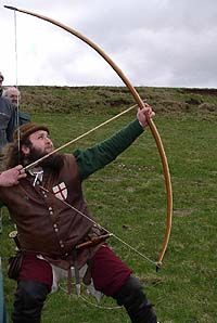 This is a longbow traditionally used by Robin Hood. Modern bows are quite different.