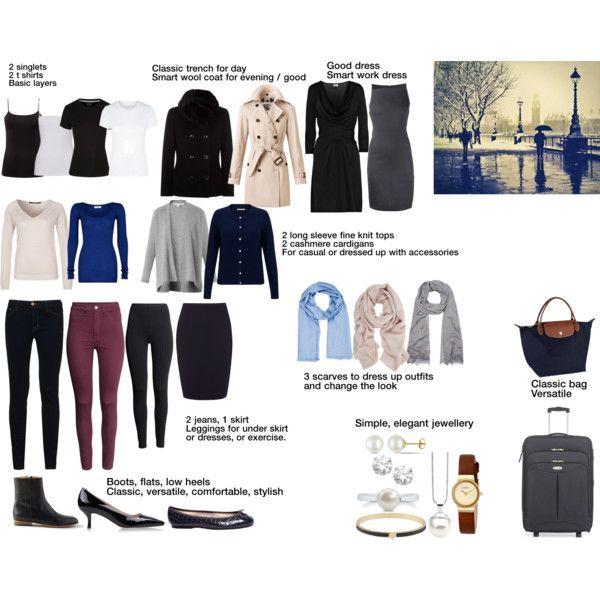 London basics capsule wardrobe