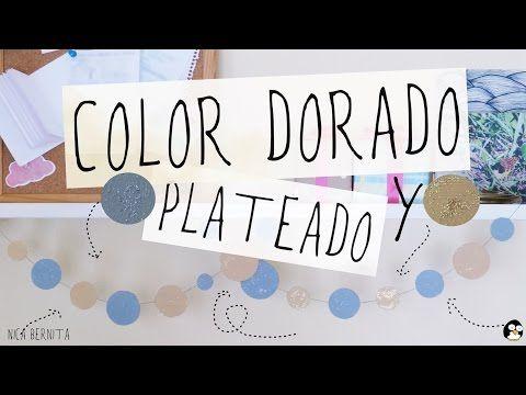 Haz tu propia pintura dorada y plateada + Guirnalda DIY | Manualidades