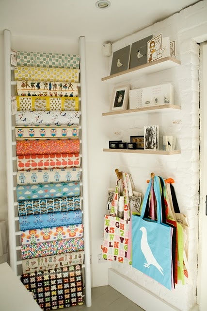 #papercraft #craftroom supply #organization: rack of larger paper sheets