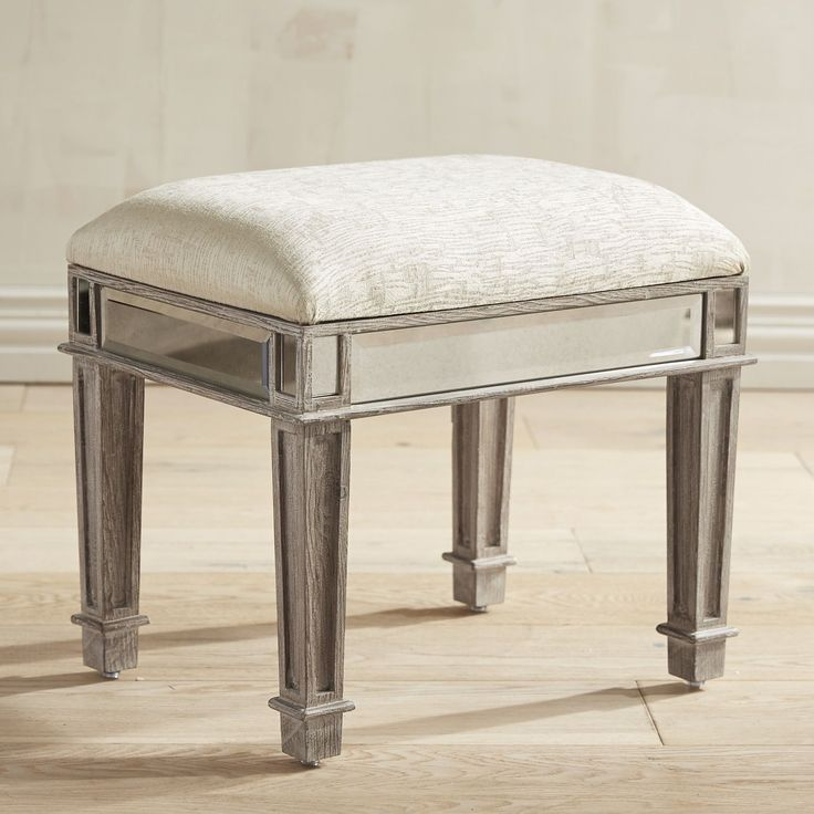 Hayworth Weathered Oak Vanity Bench White Wash