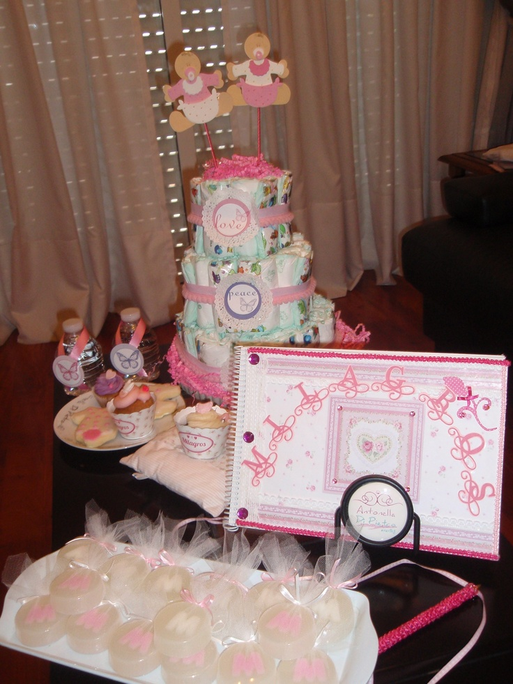 Souvenirs del Baby Shower. Romantic baby shower. http://antonelladipietro.com.ar/blog/