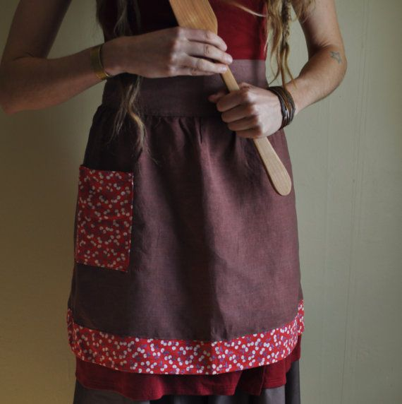 Rustic Apron by willowfern on Etsy
