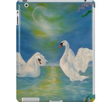 iPad Case/Skin,  swans,blue,unique,cool,fancy,beautiful,trendy,artistic,unusual,accessories,ideas,design,items,products,for sale,redbubble