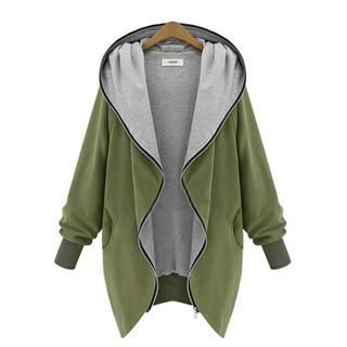 hooded zip jacket outerwear women fashion winter jackets