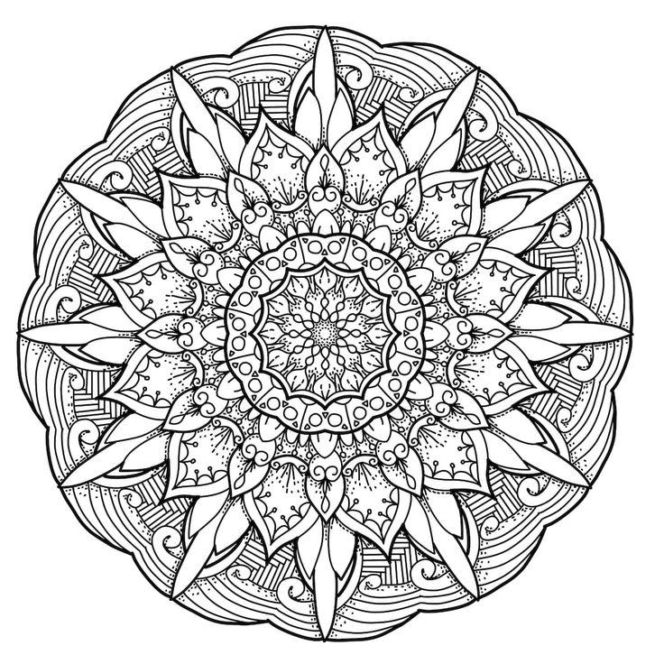 Mejores 24 imágenes de mandalas para colorear en Pinterest | Libros ...
