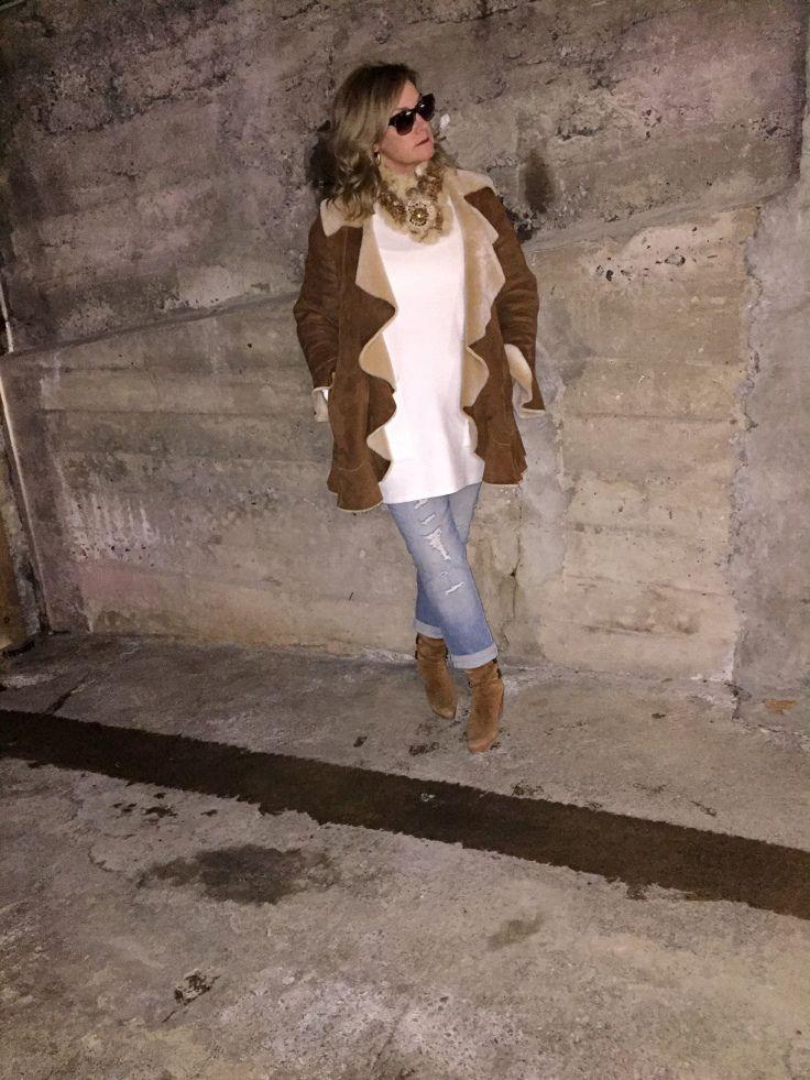 cognac coloured sheepskin coat #COTD thefwordparadox.com