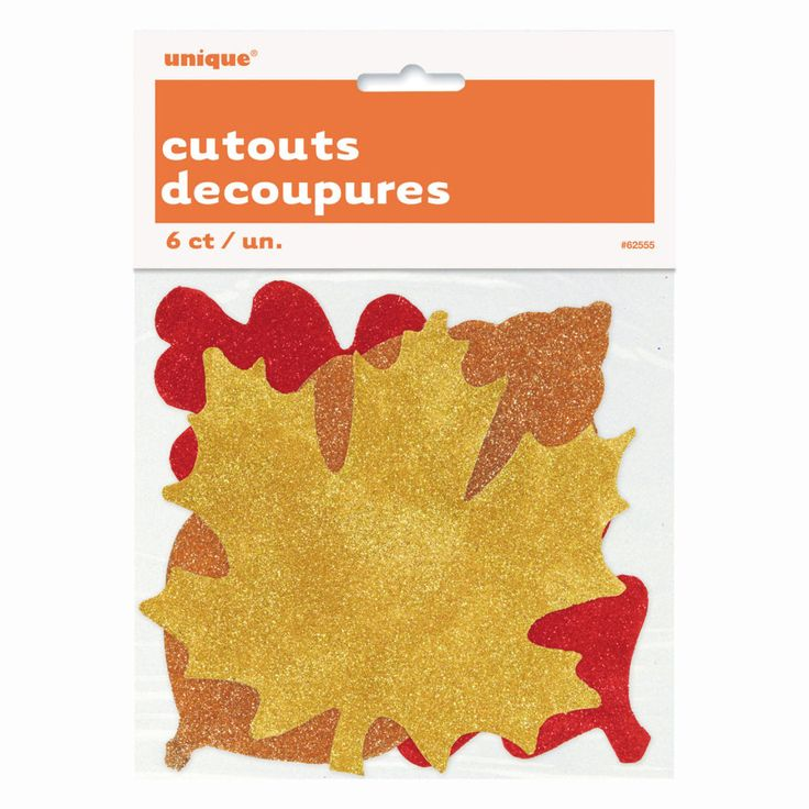 Paper Cut Out Glitter Fall Leaves Decorations | Fall Party Decorations