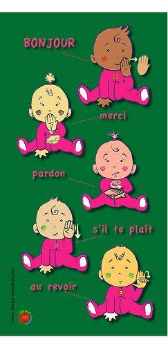 PARDON S'IL TE PLAIT AUREVOIR  LFS Langue des signes française pour bébés